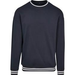 Textiel Heren Sweaters / Sweatshirts Build Your Brand BY104 Marine / Wit