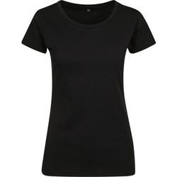 Textiel Dames T-shirts korte mouwen Build Your Brand BY086 Zwart