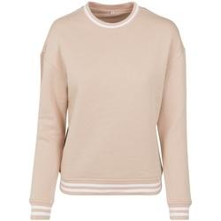 Textiel Dames Sweaters / Sweatshirts Build Your Brand BY105 Lichtroze/Wit
