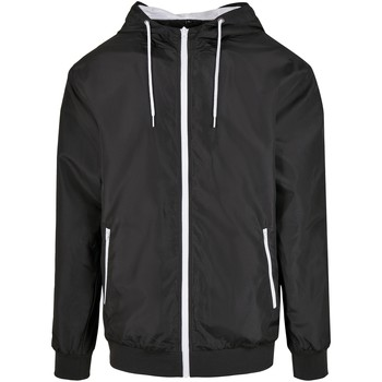 Textiel Heren Jacks / Blazers Build Your Brand BY151 Zwart/Wit
