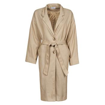 Textiel Dames Mantel jassen Betty London PIXIE Beige