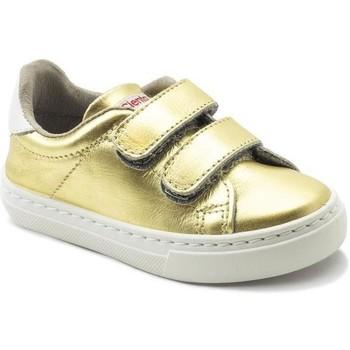 Schoenen Meisjes Lage sneakers Cienta Chaussures fille  Deportivo Scractch Laminado doré