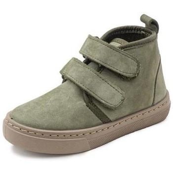 Schoenen Meisjes Hoge sneakers Cienta Bottines fille  Doble Velcro On Napa vert kaki