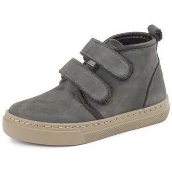 Schoenen Meisjes Hoge sneakers Cienta Bottines fille  Doble Velcro On Napa gris anthracite