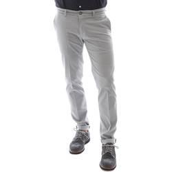 Textiel Heren Broeken / Pantalons Sei3sei 6OYSTER E1669 Grijs