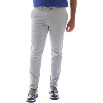 Textiel Heren Broeken / Pantalons Sei3sei 6OYSTER E1648 Grijs