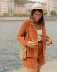 Textiel Dames Jasjes / Blazers Céleste SASSAFRAS  camel
