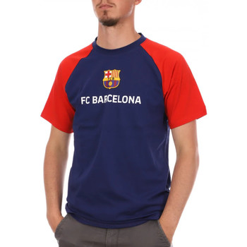 Textiel Heren T-shirts korte mouwen Fc Barcelona  Blauw