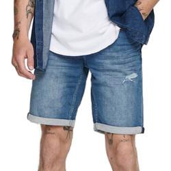 Textiel Heren Korte broeken / Bermuda's Only & Sons   Blauw