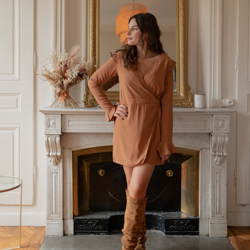 Textiel Dames Jumpsuites / Tuinbroeken Céleste NOYER  camel