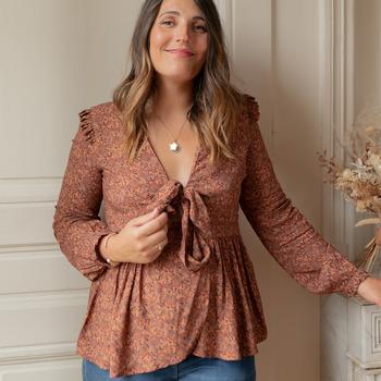 Textiel Dames Tops / Blousjes Céleste ROSSIGNOL Multicolour