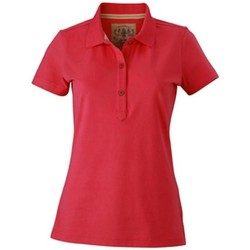Textiel Dames Polo's korte mouwen James And Nicholson  Roze