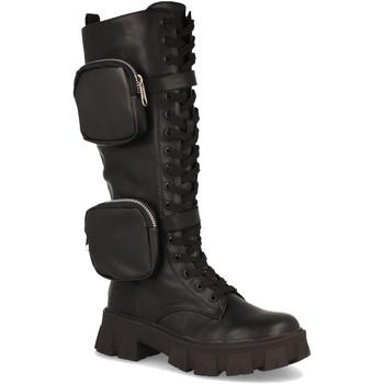 Schoenen Dames Hoge laarzen Milaya 8S9 Negro
