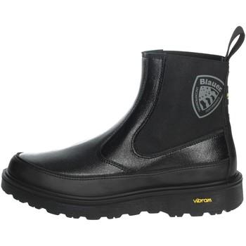 Schoenen Dames Laarzen Blauer GRETNA02 Black