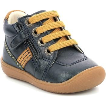 Schoenen Meisjes Laarzen Aster Chaussures fille  Piasap bleu marine/orange clair