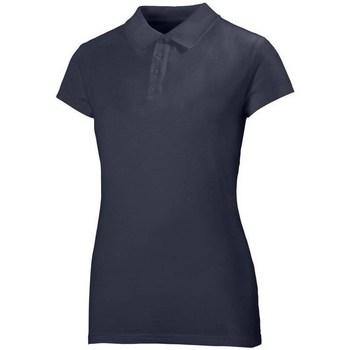 Textiel Dames Polo's korte mouwen Helly Hansen Crew Polo Bleu marine