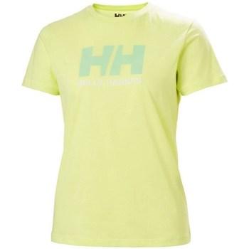 Textiel Dames T-shirts korte mouwen Helly Hansen W Logo Tshirt Vert