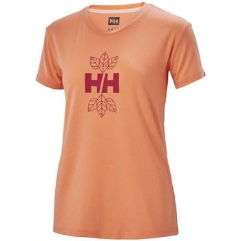 Textiel Dames T-shirts korte mouwen Helly Hansen Skog Graphic Orange