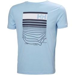 Textiel Heren T-shirts korte mouwen Helly Hansen Shoreline Bleu