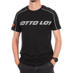 Textiel Heren T-shirts korte mouwen Lotto  Zwart