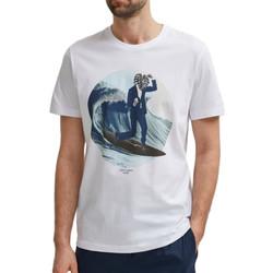 Textiel Heren T-shirts korte mouwen Selected  Wit