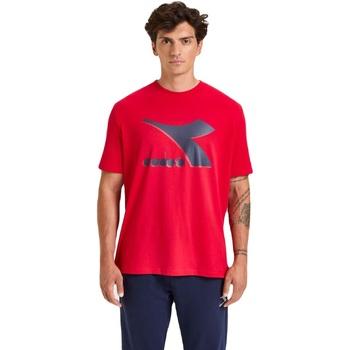 Textiel Heren T-shirts korte mouwen Diadora Ss Shield Rood