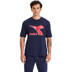 Textiel Heren T-shirts korte mouwen Diadora Ss Shield Blauw