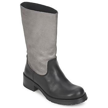 Schoenen Dames Hoge laarzen Pastelle PETULA Zilver-zwart