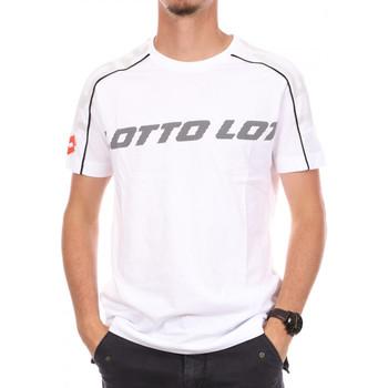 Textiel Heren T-shirts korte mouwen Lotto  Wit