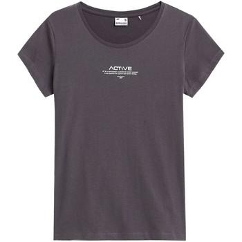 Textiel Dames T-shirts korte mouwen 4F TSD020 Graphite