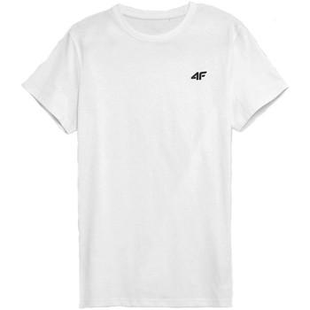 Textiel Heren T-shirts korte mouwen 4F TSM352 Blanc