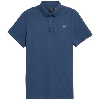 Textiel Heren Polo's korte mouwen 4F TSM355 Bleu
