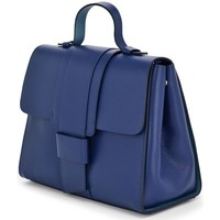 Tassen Dames Handtassen kort hengsel Vera Pelle 9210000267773 Bleu marine