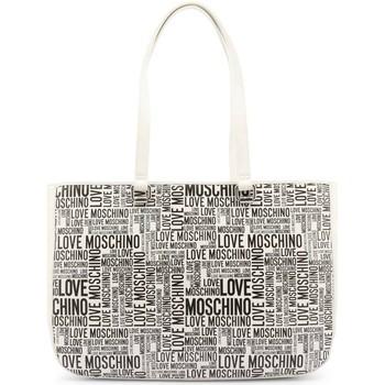 Tassen Dames Handtassen kort hengsel Love Moschino JC4156PP1DLE110A Blanc, Noir