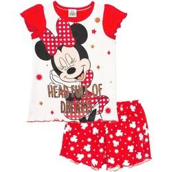 Textiel Meisjes Pyjama's / nachthemden Disney  Rood/Wit
