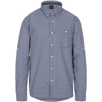Textiel Heren Overhemden lange mouwen Trespass  Blauwe ruit