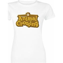 Textiel Dames T-shirts korte mouwen Animal Crossing  Wit