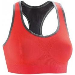 Textiel Dames Sport BHs Spiro S269F Hete koraal/fantoomgrijs