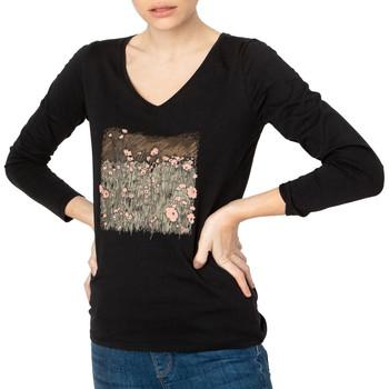 Textiel Dames T-shirts met lange mouwen TBS  Zwart