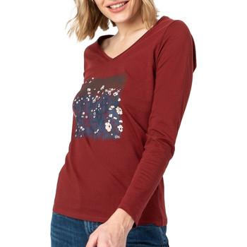 Textiel Dames T-shirts met lange mouwen TBS  Rood