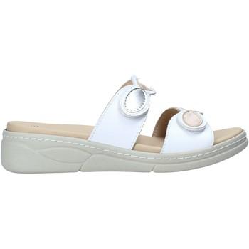 Schoenen Dames Leren slippers Susimoda 1923 Wit