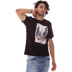 Textiel Heren T-shirts korte mouwen Refrigiwear RM0T25500JE9101 Zwart