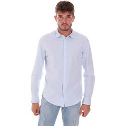 Textiel Heren Overhemden lange mouwen Gas 151133 Blauw