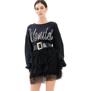 Textiel Dames Korte jurken Fracomina FR21WD6002F400N5 Zwart