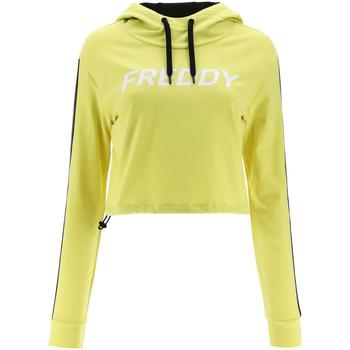 Textiel Dames Sweaters / Sweatshirts Freddy F1WFTS3 Geel
