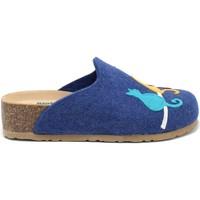 Schoenen Dames Sloffen Bionatura 12BLMOO-I-FELB88 Blauw