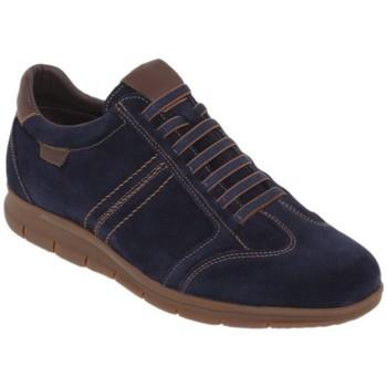 Schoenen Heren Lage sneakers Casual Shoes Zapatos sneakers con cordones de piel by Casual Bleu