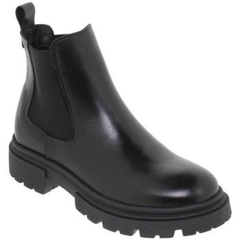 Schoenen Dames Enkellaarzen Casual Shoes Botines de piel con tacón by Chamby Noir