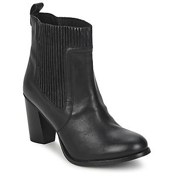 Schoenen Dames Enkellaarzen Dune NATTIES  zwart