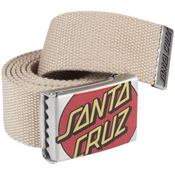 Accessoires Heren Riemen Santa Cruz Crop dot belt Beige